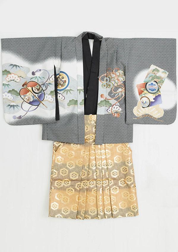 0513_黒紋・金茶亀甲(1)